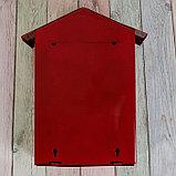 Ящик почтовый с щеколдой, вертикальный «Домик», бордовый, фото 5