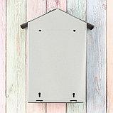 Ящик почтовый с щеколдой, вертикальный «Домик», серый, фото 5