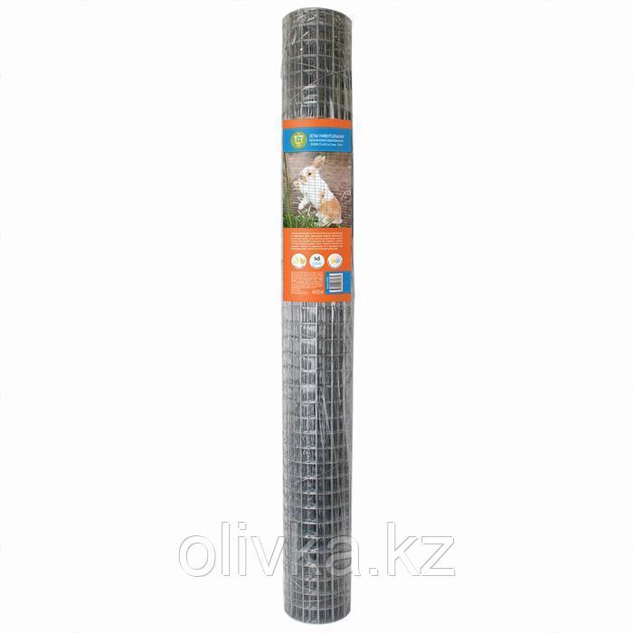 Сетка универсальная, 1 × 5 м, ячейка 2,54 × 2,54 см, толщина 1,4 мм, оцинкованный металл