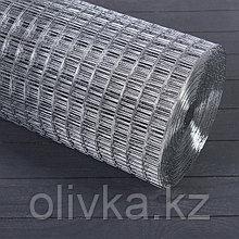 Сетка оцинкованная, сварная, 1 × 25 м, ячейка 25 × 25 мм, d = 1 мм, металл