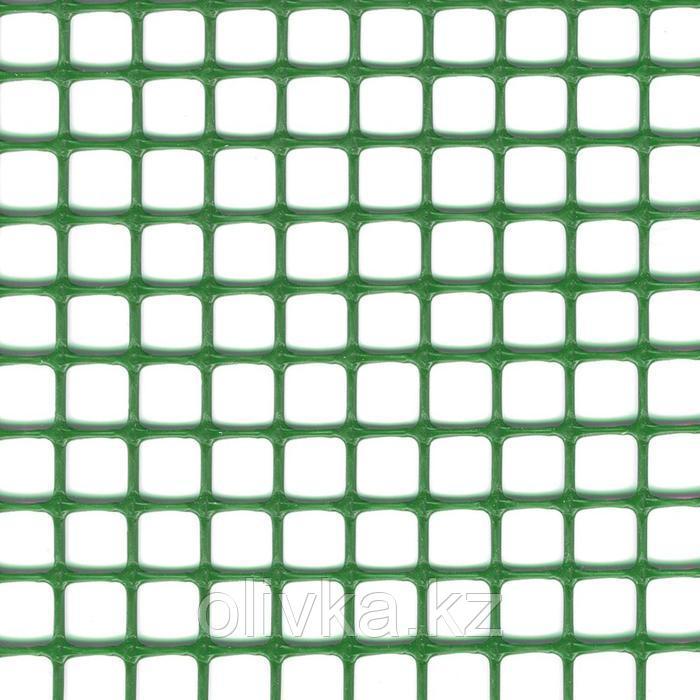 Сетка садовая, 1 × 10 м, ячейка 1 × 1 см, пластик, зелёная, Quadra 10