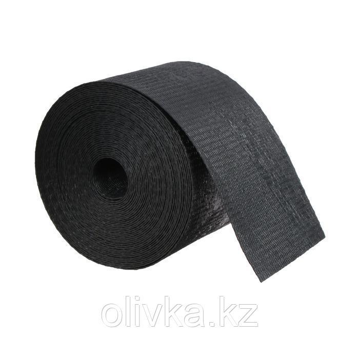 Лента бордюрная, 0,1 × 10 м, толщина 1,2 мм, пластиковая, чёрная, Greengo