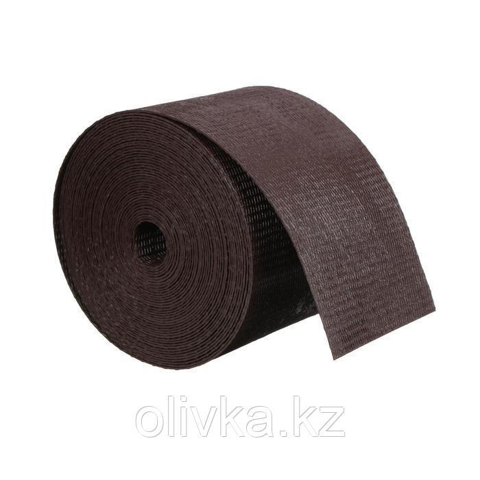 Лента бордюрная, 0.1 × 10 м, толщина 1.2 мм, пластиковая, коричневая, Greengo