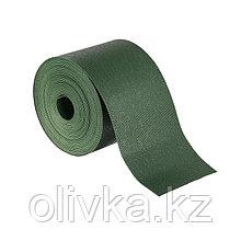 Лента бордюрная, 0.1 × 10 м, толщина 1.2 мм, пластиковая, зелёная, Greengo
