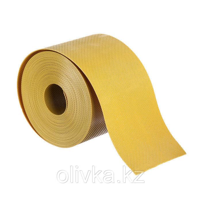 Лента бордюрная, 0.1 × 10 м, толщина 1.2 мм, пластиковая, жёлтая, Greengo