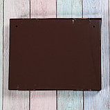 Ящик почтовый с замком, горизонтальный «Широкий», коричневый, фото 5
