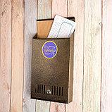 Ящик почтовый с замком, вертикальный, бронзовый, фото 2
