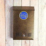 Ящик почтовый с замком, вертикальный, бронзовый, фото 3