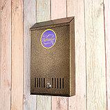 Ящик почтовый с замком, вертикальный, бронзовый, фото 4