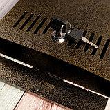 Ящик почтовый с замком, вертикальный, бронзовый, фото 5