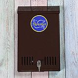 Ящик почтовый с замком, вертикальный, коричневый, фото 2