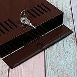 Ящик почтовый с замком, вертикальный, коричневый, фото 4