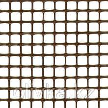 Сетка садовая, 1 × 10 м, ячейка 1 × 1 см, пластик, коричневая, Quadra 10