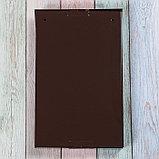 Ящик почтовый с замком, вертикальный, коричневый, фото 5