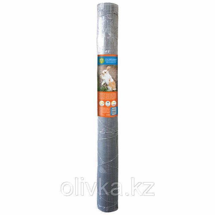Сетка универсальная, 1 × 5 м, ячейка 0,64 × 0,64 см, толщина 0,6 мм, оцинкованный металл