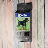 Ящик почтовый без замка (с петлёй), вертикальный, «Фото», МИКС, серебристый, фото 2