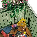 Сетка садовая, 1 × 25 м, ячейка 0,6 × 0,5 см, пластик, зелёная, CUADRADA 05, фото 3