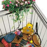 Сетка садовая, 1 × 25 м, ячейка 0,6 × 0,5 см, пластик, серебристая, CUADRADA 05, фото 2