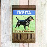 Ящик почтовый без замка (с петлёй), вертикальный, «Фото», МИКС, бронзовый, фото 3