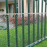 Сетка садовая, 1 × 30 м, ячейка 3 × 3 см, пластик, серебристая, Exagon, фото 3