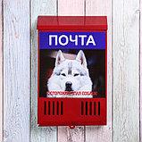 Ящик почтовый без замка (с петлёй), вертикальный, «Фото», МИКС, красный, фото 2