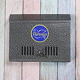 Ящик почтовый с замком, горизонтальный «Широкий», серебристый, фото 2