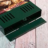 Ящик почтовый без замка (с петлёй), вертикальный, «Фото», МИКС, зелёный, фото 4