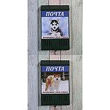Ящик почтовый без замка (с петлёй), вертикальный, «Фото», МИКС, зелёный, фото 6