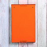 Ящик почтовый с замком, вертикальный, оранжевый, фото 5