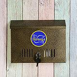 Ящик почтовый с замком, горизонтальный «Широкий», бронзовый, фото 3
