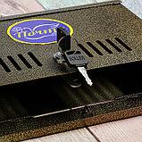 Ящик почтовый с замком, горизонтальный «Широкий», бронзовый, фото 5
