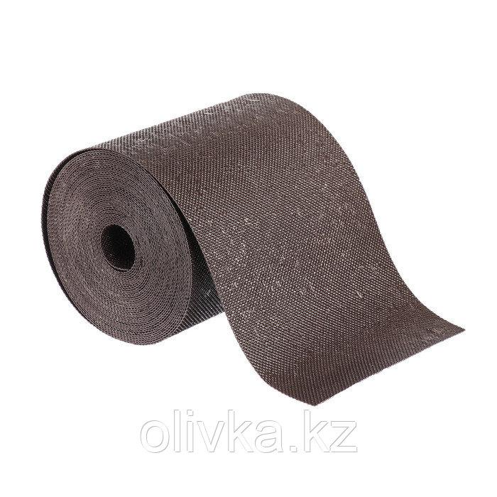 Лента бордюрная, 0.15 × 10 м, толщина 1.2 мм, пластиковая, коричневая, Greengo