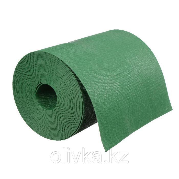 Лента бордюрная, 0.2 × 10 м, толщина 1.2 мм, пластиковая, зелёная, Greengo