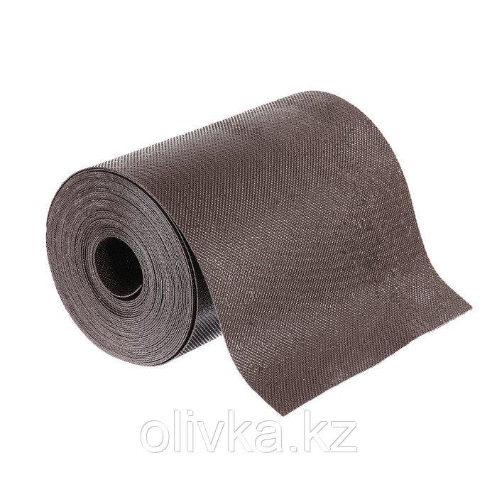 Лента бордюрная, 0.2 × 10 м, толщина 1.2 мм, пластиковая, коричневая, Greengo