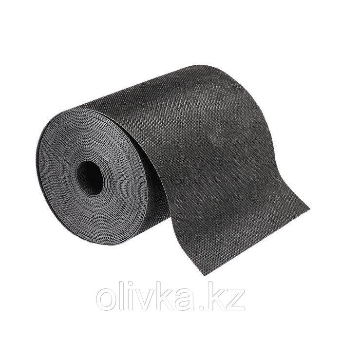 Лента бордюрная, 0.2 × 10 м, толщина 1.2 мм, пластиковая, чёрная, Greengo