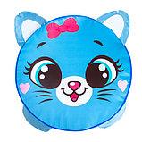 Мягкая игрушка «Пуфик: Кот» 40см × 40см, цвет голубой, фото 2