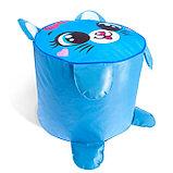 Мягкая игрушка «Пуфик: Кот» 40см × 40см, цвет голубой, фото 3