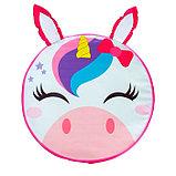Мягкая игрушка «Пуфик: Единорог», 40 × 40см, цвет розовый, фото 2