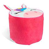 Мягкая игрушка «Пуфик: Единорог», 40 × 40см, цвет розовый, фото 3