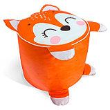 Мягкая игрушка «Пуфик: Лиса» 40см × 40см, цвет оранжевый, фото 3