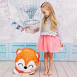 Мягкая игрушка «Пуфик: Лиса» 40см × 40см, цвет оранжевый, фото 4