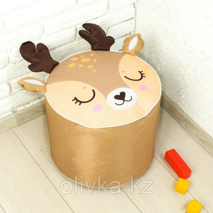 Мягкая игрушка «Пуфик: Олень» 40см × 40см, цвет коричневый - фото 1