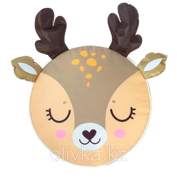 Мягкая игрушка «Пуфик: Олень» 40см × 40см, цвет коричневый - фото 2