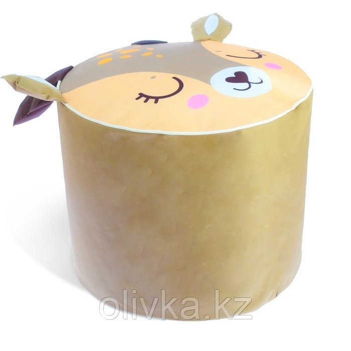 Мягкая игрушка «Пуфик: Олень» 40см × 40см, цвет коричневый - фото 3