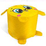 Мягкая игрушка «Пуфик: Заяц» 40см × 40см, цвет жёлтый, фото 3