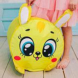 Мягкая игрушка «Пуфик: Заяц» 40см × 40см, цвет жёлтый, фото 4