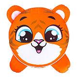Игрушка-пуфик «Тигр», мягкая, 40 × 40 см, цвет оранжевый, фото 2