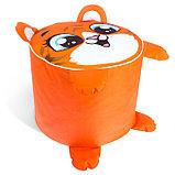 Игрушка-пуфик «Тигр», мягкая, 40 × 40 см, цвет оранжевый, фото 3