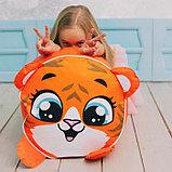 Игрушка-пуфик «Тигр», мягкая, 40 × 40 см, цвет оранжевый, фото 4