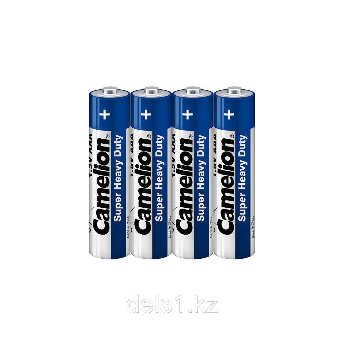 Батарейка, CAMELION, R03P-SP4B, Super Heavy Duty, AAA, 1.5V, 550 mAh, 4 шт., Плёнка
